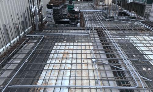 自地自建-樓板配管