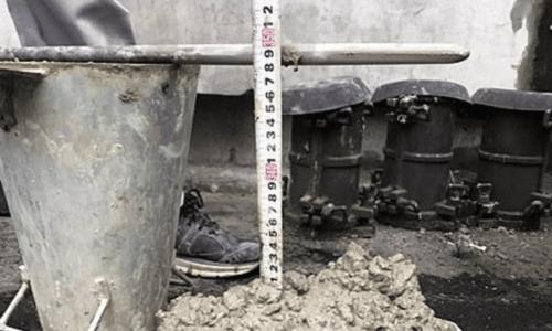 自地自建流程 混凝土試體坍度測試