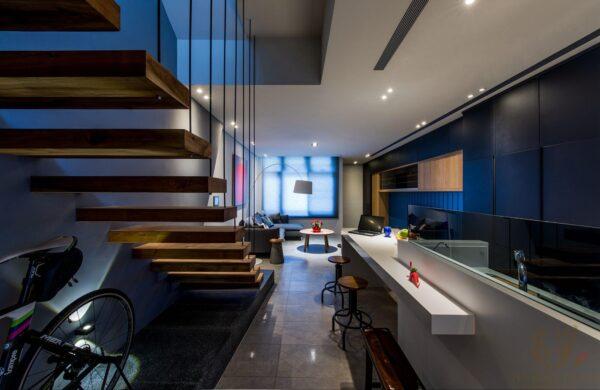 透天厝一樓格局設計開放室空間 讓視覺更顯開闊
